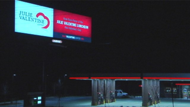 One of the Greenville's digital billboards located at Woodruff Road and Verdae Boulevard. (Feb. 5, 2013/FOX Carolina)