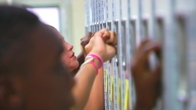 Students in an Upstate high school at their lockers. (File/FOX Carolina)