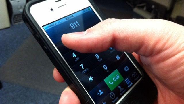 A caller dials 911 on their cell phone. (File/FOX Carolina)