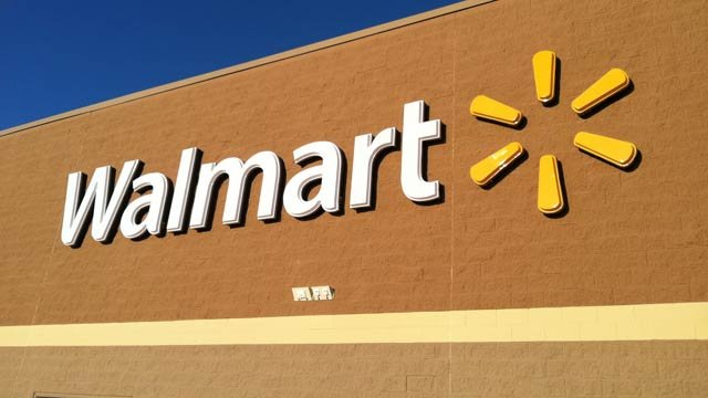 The Walmart logo appears outside a store in Berea. (File/FOX Carolina)