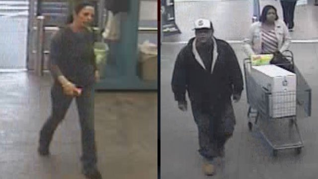 Spartanburg police say these people are wanted in connection with two shoplifting cases. (Spartanburg Public Safety Dept.)