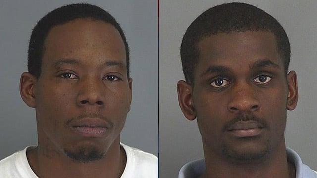 Theodore Brooks (left) and Odell Ferguson. (Spartanburg Police Dept.)