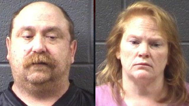 Michael Timmons (left) and Teresa Knapp (Asheville Police Dept.)
