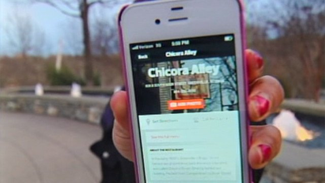 "Greenville restaurant Chicora Alley is one of many restaurants that is searchable on the ""No Chains"" app. (Feb. 13, 2013/FOX Carolina)"