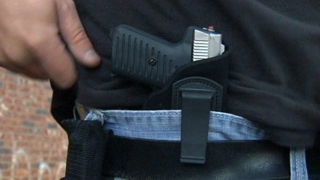 An Upstate gun owner carries his gun in a holster. (File/FOX Carolina)