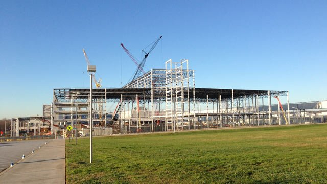 The BMW expansion continues at the Greer plant. (Feb. 15, 2013/FOX Carolina)