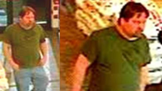 Deputies say this man stole a purse from a Five Guys location on Pelham Road. (Feb. 12, 2013/FOX Carolina)
