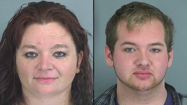 Tonia Mahaffey (left) and Austin Berrong-Mahaffey. (Spartanburg Co. Detention Center)