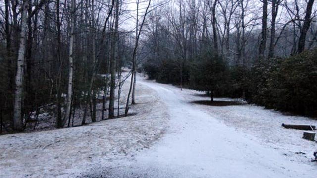 A snow covered road in the Pisgah Forest. (Feb. 19, 2013/FOX Carolina iWitness)