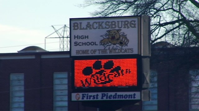 Blacksburg High School is one of two high schools in Cherokee County. (Feb. 19, 2013/FOX Carolina)