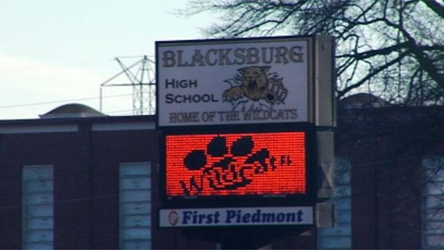 Blacksburg High School is one of two high schools in Cherokee County. (Feb. 19, 2013/FOX Carolina)