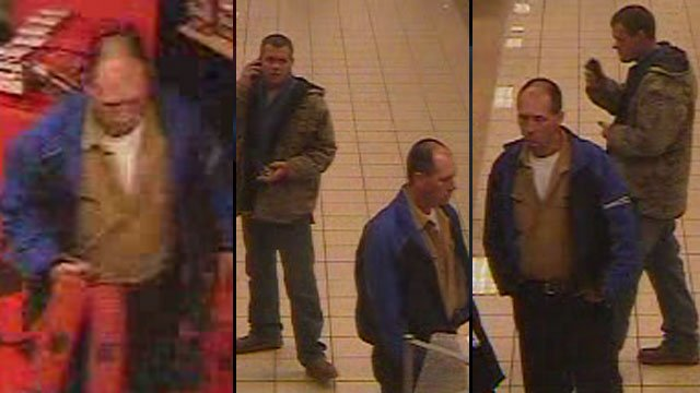 Police say these men took several tool kits from a Sears store in Spartanburg. (Feb. 23, 2013/Spartanburg Public Safety Dept.)