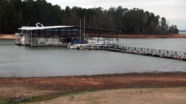 Hartwell Fishing and Marine on Lake Hartwell in Anderson. (Feb. 25, 2013/FOX Carolina)