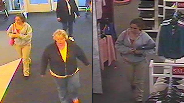 Deputies are looking for the women seen in these surveillance pics. (Polk Co. Sheriff's Office)