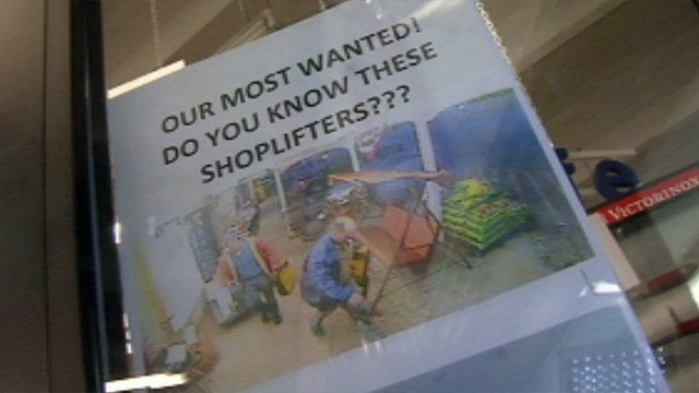 A flyer posted on Classic ACE Hardware's front door looking for the men. (Feb. 26, 2013/FOX Carolina)