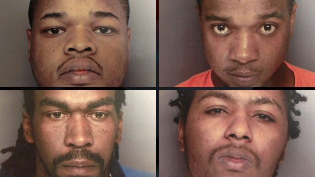 From upper-left to lower-right: Darnell Cobb, Christopher Cobb, Aaron Goodwin and Desmond Parks. (Greenville Co. Sheriff's Office)