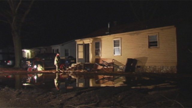 The Plainview Road home firefighters say was set on fire Wednesday night. (Feb. 27, 2013/FOX Carolina)