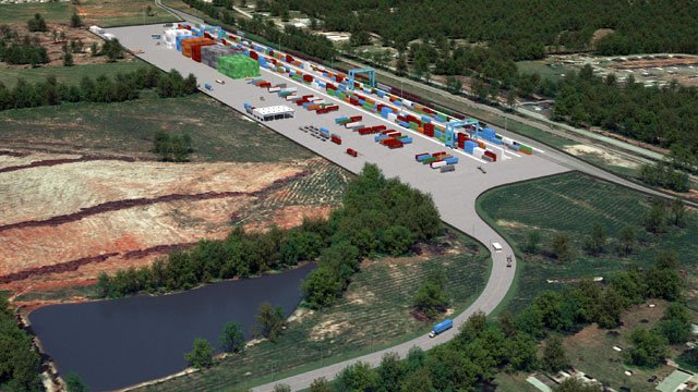 An artist's rendering shows the finished version of the Inland Port in Greer. (SCPA)