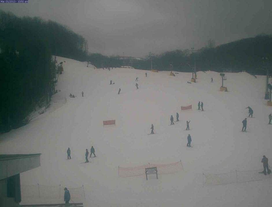 here's a webcam/tower cam view of Cataloochee ski area Friday morning at 10:45AM
