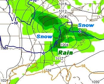 the map above is a projection consistent with conditions expected Tuesday afternoon and early evening