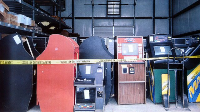 Deputies said these are some of the machines that were found in Gaffney. (Cherokee Co. Sheriff's Office)