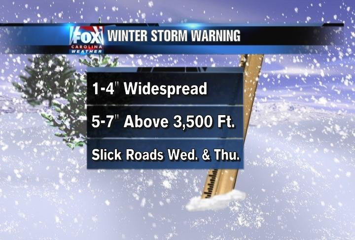 here's a look at what sort of conditions are expected within the Winter Storm Warning