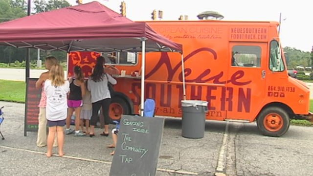 The Neue Southern food truck on its first day parked outside of Community Tap in downtown Greenville. (File/FOX Carolina)