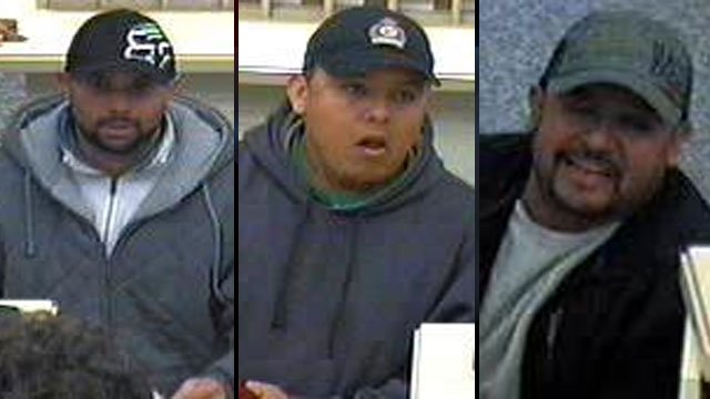 Deputies say these men cashed stolen checks at banks in Columbus, Hendersonville and Asheville. (Polk Co. Sheriff's Office)