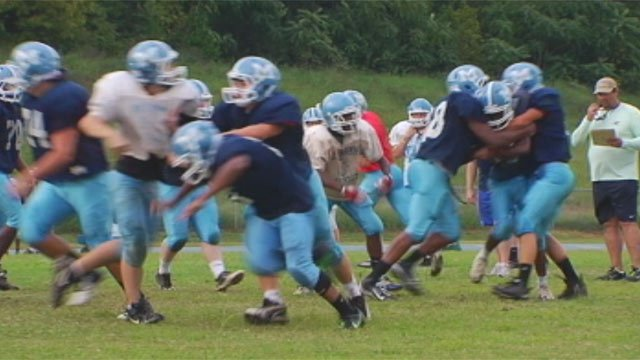 JL Mann High School football players practice for an upcoming game. (File/FOX Carolina)