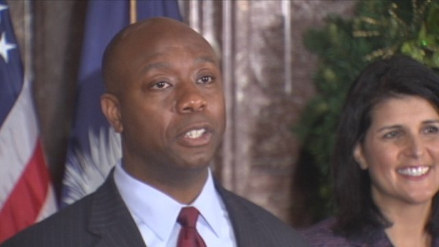 Rep. Tim Scott is appointed by Gov. Nikki Haley to fill Sen. Jim DeMint's Senate seat. (Dec. 17, 2012/FOX Carolina)