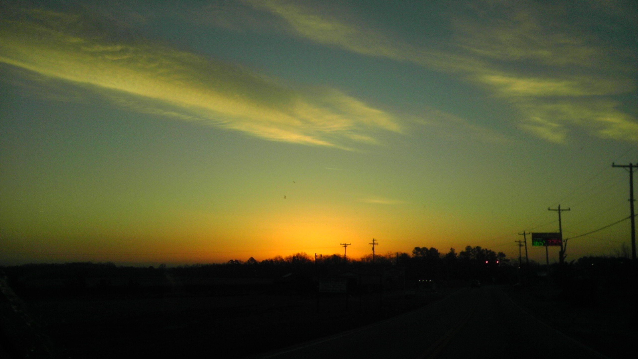 Sunrise this morning from Osman Perkins