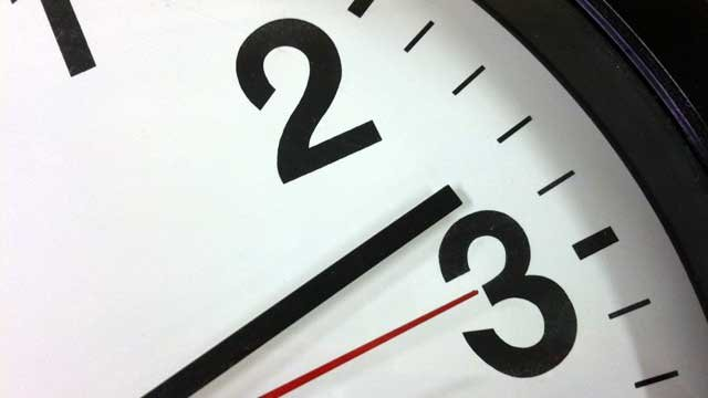 At 2 a.m. Sunday clocks across most of the U.S. will be turned forward one hour. (File/FOX Carolina)