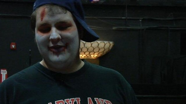 A man dresses up as a zombie for a new western North Carolina attraction. (Feb. 22, 2013/FOX Carolina)