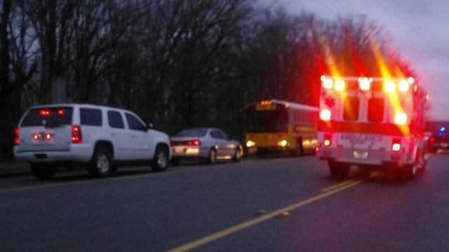 Dispatchers say a school bus was involved in a wreck near Byrnes Freshman Academy. (Mar. 12, 2013/FOX Carolina iWitness)