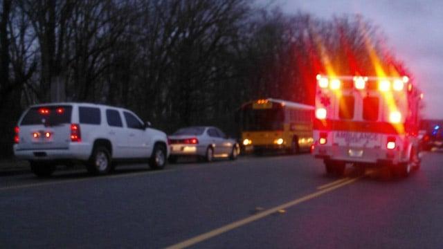 Dispatchers say a school bus was involved in a wreck near Byrnes Freshman Academy. (Mar. 12, 2013/FOX Carolina iWitness)