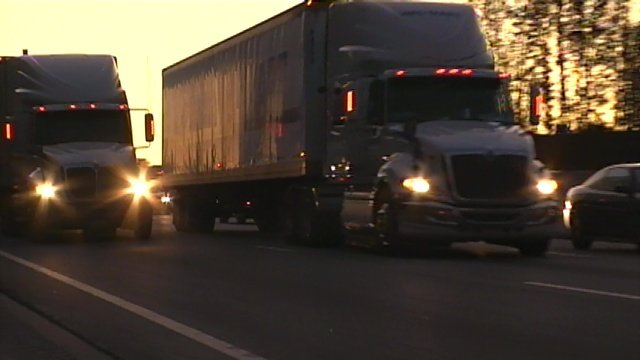 Semi trucks haul loads along Upstate highways. (File/FOX Carolina)