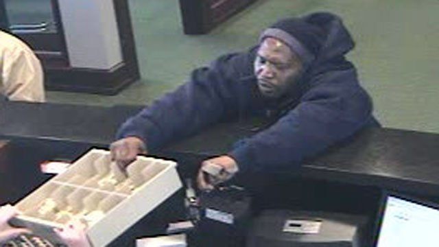Spartanburg police said this man robbed a TD Bank branch Wednesday afternoon. (March 13, 2013/Spartanburg Public Safety Dept.)