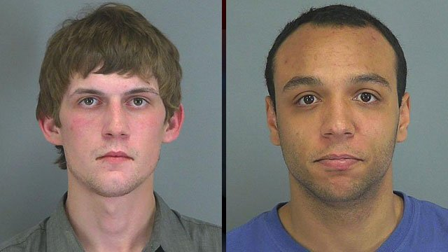 Joey Whitworth (left) and Adam Moore (Spartanburg Co. Sheriff's Office)