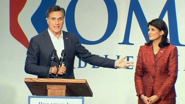 GOP presidential candidate Mitt Romney with SC Gov. Nikki Haley. (File/FOX Carolina)