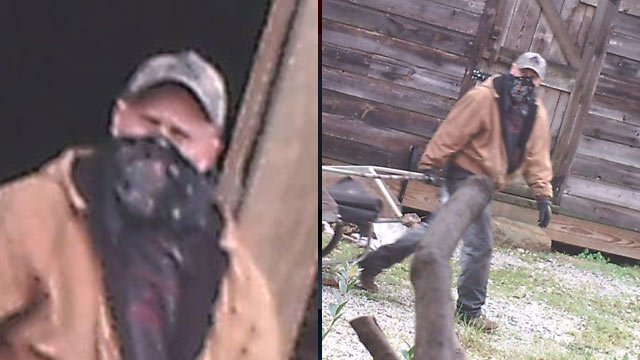 A deer camera shows the man deputies say stole from the McDonald Road farm. (Feb. 22, 2013/Abbeville Co. Sheriff's Office)