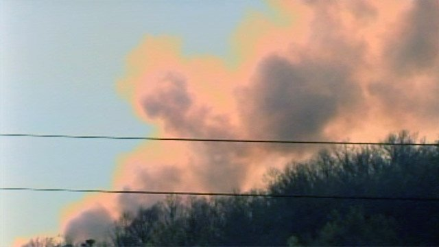 Smokes rises from the scene of a wildfire near Mills River, NC (File/FOX Carolina)