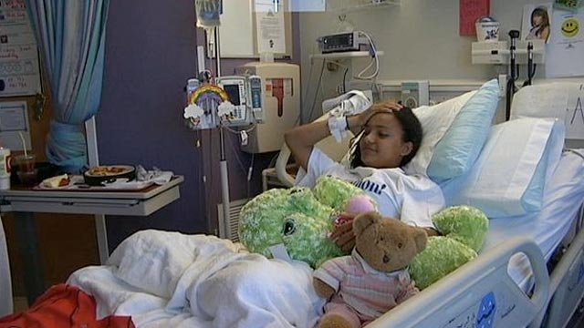 Annie Elrod was in the hospital for two days after the hit. (Mar. 15, 2013/FOX Carolina)