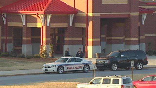 Clinton Public Safety officers were present at Clinton High School Friday morning. (Mar. 8, 2013/FOX Carolina)