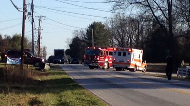 Emergency vehicles block off parts of a south Greenville road after suspicious items were found in a yard. (March, 19, 2013/Source: FOX Carolina)