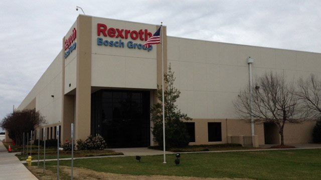 The Bosch Rexroth manufacturing plant is located on Southchase Court in Fountain Inn. (Mar. 20, 2013/FOX Carolina)