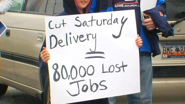 One of the signs protestors' carried during Sunday's picket. (Mar. 24, 2013/FOX Carolina)
