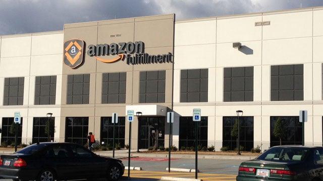 The Amazon fulfillment center is located off of John Dodd Road in Spartanburg. (Mar. 25, 2013/FOX Carolina)