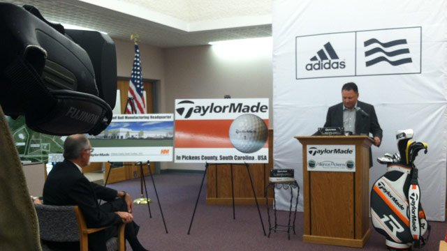 Officials announce TaylorMade Golf's plans for a Pickens County facility. (Apr. 3, 2013/FOX Carolina)