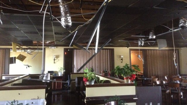 Deputies say burglars caused extensive damage inside Branzino Grill in Boiling Springs. (Apr. 3, 2013/FOX Carolina)