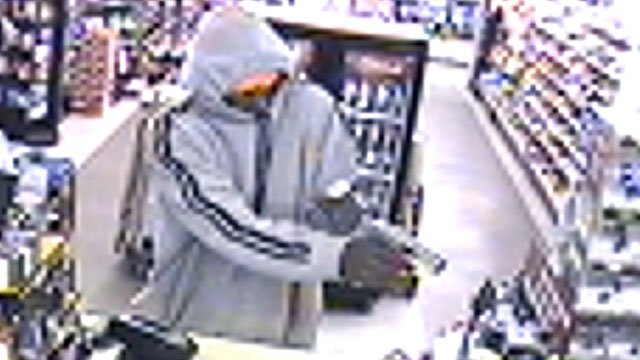 Deputies released this picture taken from surveillance video at a store that was robbed Wednesday night. (April 3, 2013/Spartanburg Co. Sheriff's Office)